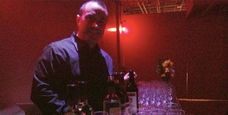 Nick Tornetta, serving wine tastings